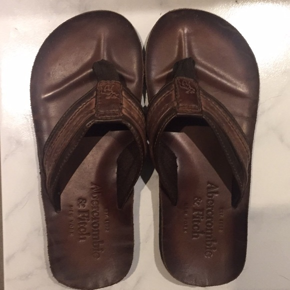 83125d24ad57 Abercrombie   Fitch Other - Leather old-school Abercrombie flip flops